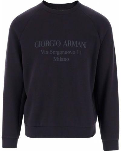 Niebieska bluza dresowa Giorgio Armani
