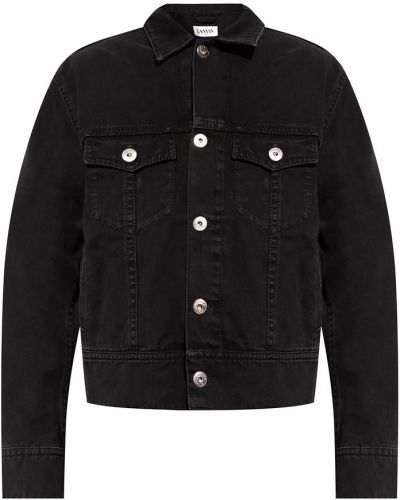 Czarne jeansy zapinane na guziki Lanvin
