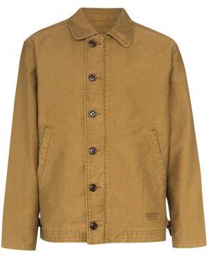 Куртка на пуговицах свободного кроя с карманами с воротником Wacko Maria