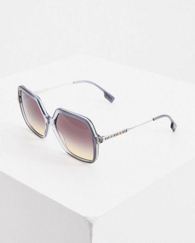 Синие солнцезащитные очки квадратные Burberry