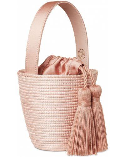 Różowy top bawełniany Cesta Collective