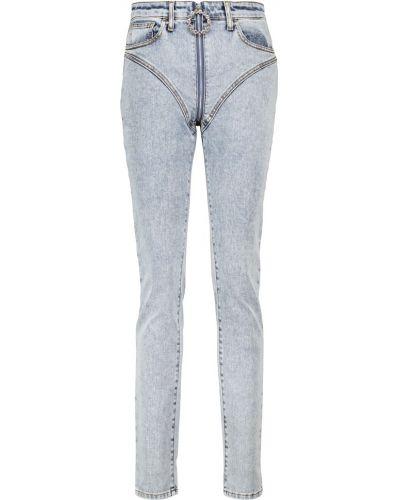 Хлопковые джинсы - синие Alessandra Rich