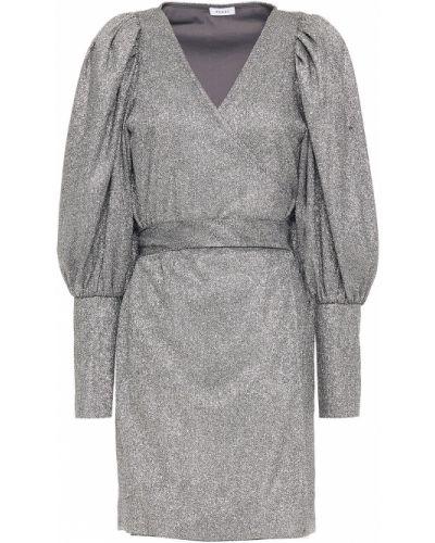 Sukienka mini kopertowa zapinane na guziki srebrna Rhode