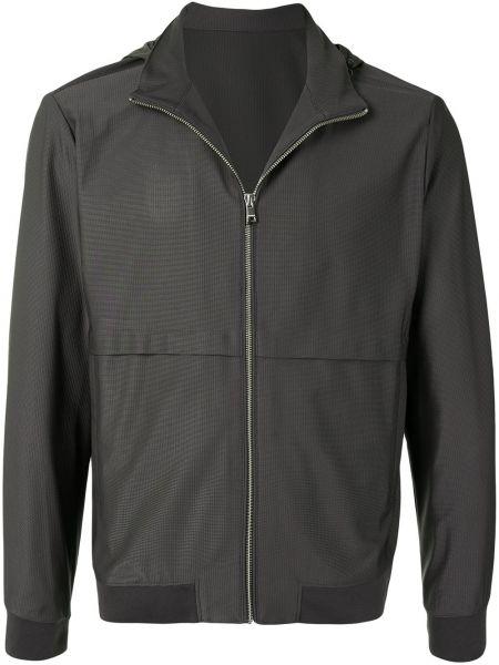 С рукавами серая облегченная длинная куртка с манжетами D'urban