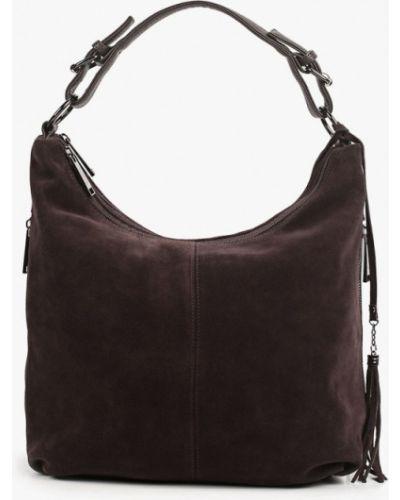 Кожаная коричневая сумка с ручками Mascotte