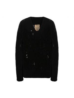 Черная трикотажная свитер Uma Wang