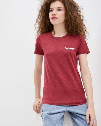 Красная с рукавами футболка Superdry