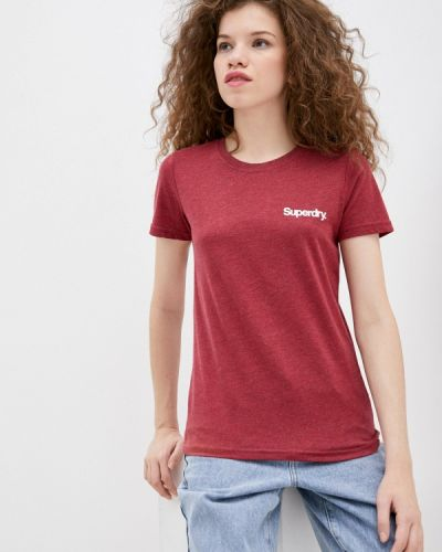 Красная футболка с короткими рукавами Superdry