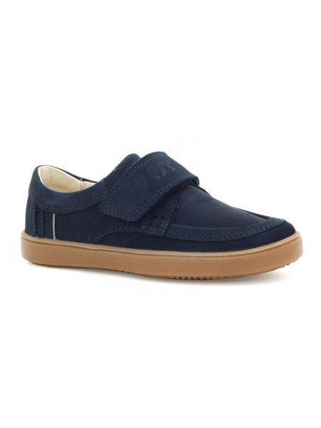 Кожаные полуботинки - синие Bartek