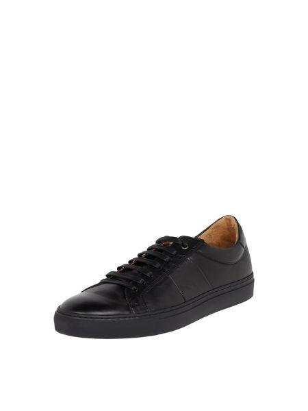 Brązowe sneakersy skorzane Cinque