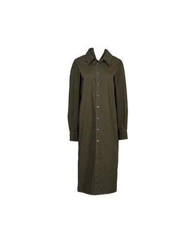 Хлопковое платье макси - зеленое Marni