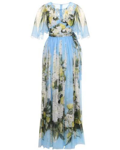 Платье макси с поясом на молнии Dolce & Gabbana