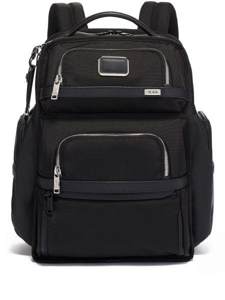 Czarny plecak z nylonu Tumi