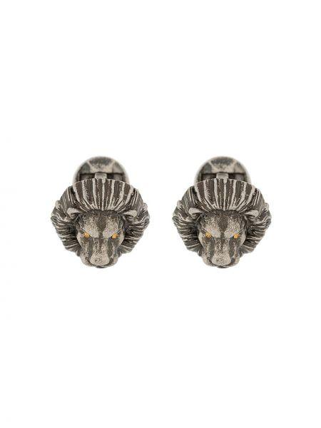 Серебряные запонки металлические Tateossian