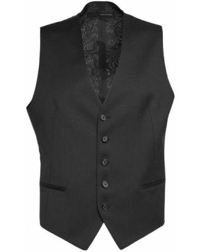 Czarna kamizelka elegancka Tagliatore
