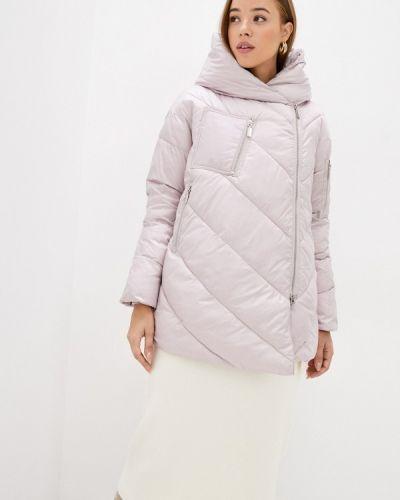 Теплая розовая утепленная куртка Lusio