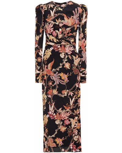 Шелковое платье миди - черное Zimmermann