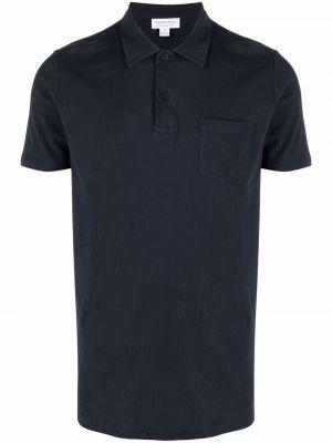Синяя рубашка на пуговицах Sunspel