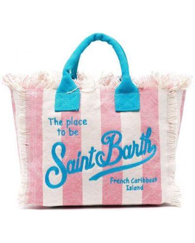 Пляжная розовая косметичка с вышивкой Mc2 Saint Barth Kids
