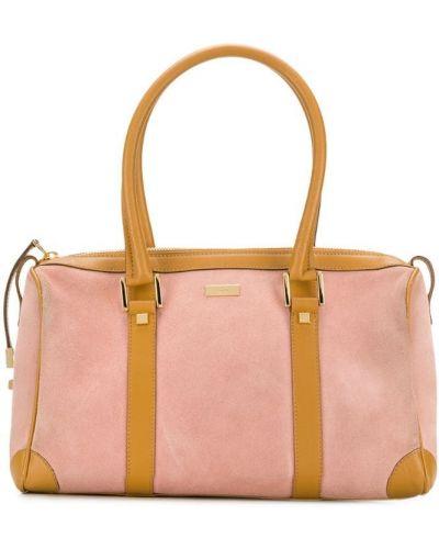 Дорожная сумка розовый с пряжкой Gucci Vintage