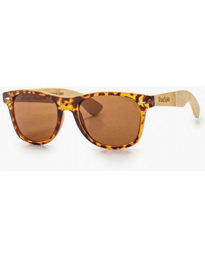Коричневые солнцезащитные очки True Spin