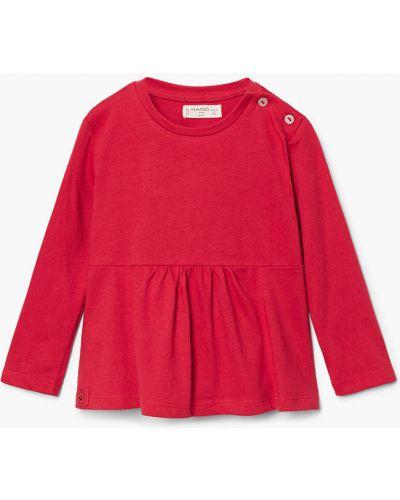 Красная блуза короткая Mango Kids
