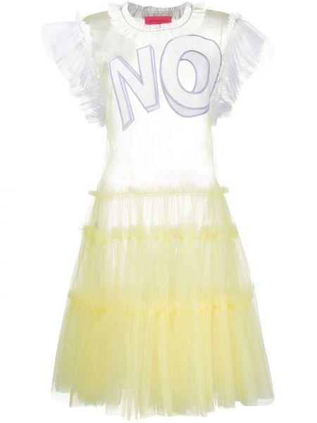 Платье мини миди с оборками Viktor & Rolf