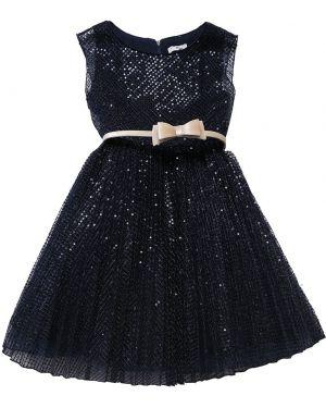 Платье с поясом с пайетками на молнии Monnalisa