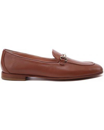 Коричневые кожаные туфли закрытые Baldinini