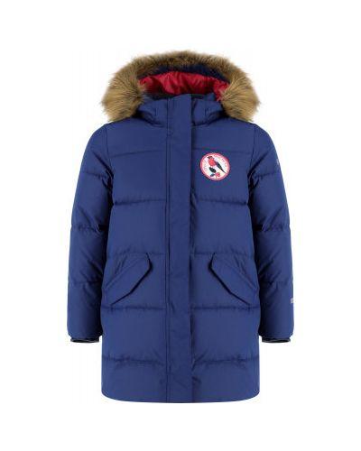 Синяя спортивная утепленная куртка с капюшоном Outventure