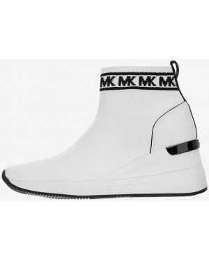 Кроссовки на платформе текстильные белый Michael Michael Kors