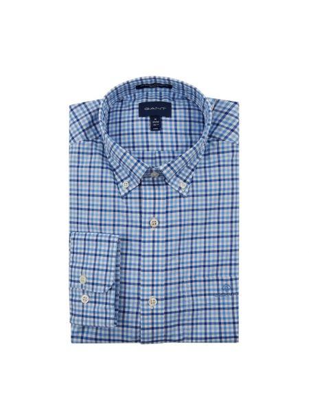 Koszula z logo w kratę Gant