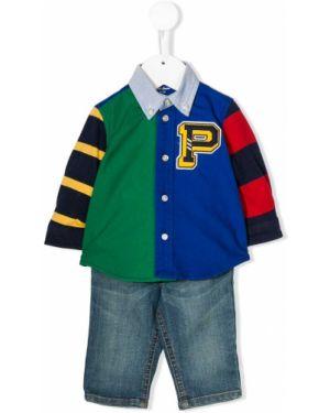 Рубашка в полоску синий Ralph Lauren Kids