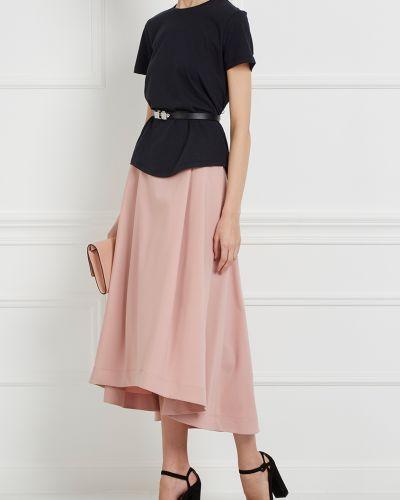 Юбка макси шелковая розовая Jil Sander Navy