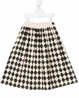 Czarna spódnica midi rozkloszowana bawełniana Little Creative Factory Kids