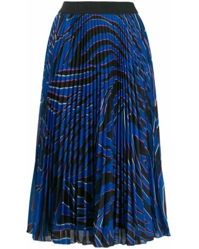 Юбка миди с завышенной талией - синяя Escada Sport