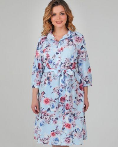 Летнее платье на пуговицах с цветочным принтом Ellcora