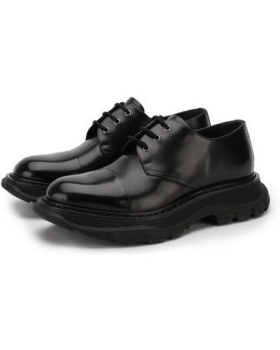 Кожаные туфли на шнуровке Alexander Mcqueen