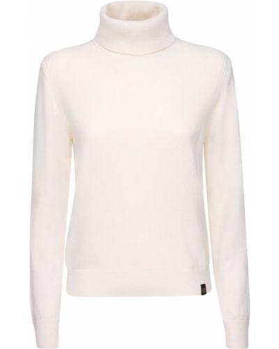Белый шерстяной свитер с воротником Belstaff