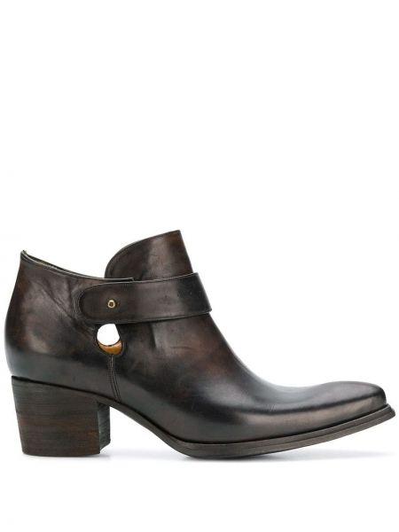 Кожаные коричневые ботинки на каблуке на каблуке Atelier Bâba
