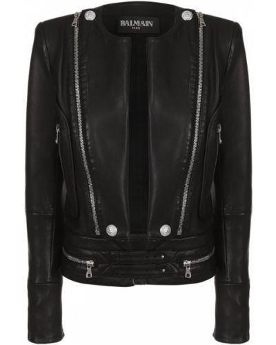 Куртка с поясом приталенная Balmain