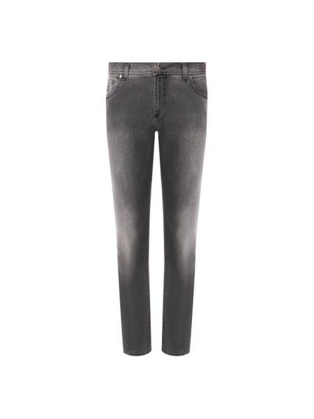 Хлопковые джинсы - серые Andrea Campagna