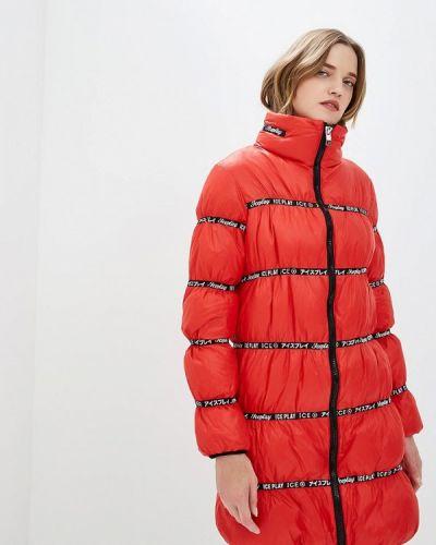 Зимняя куртка осенняя красная Ice Play