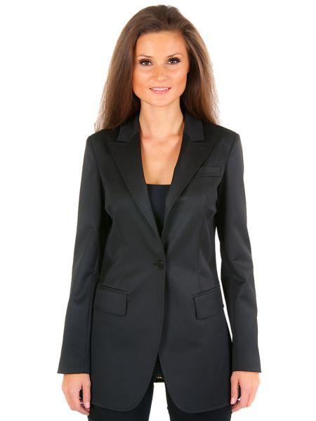 Черный пиджак из вискозы Perspective