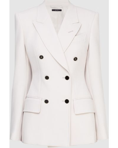 Шерстяной бежевый пиджак Tom Ford