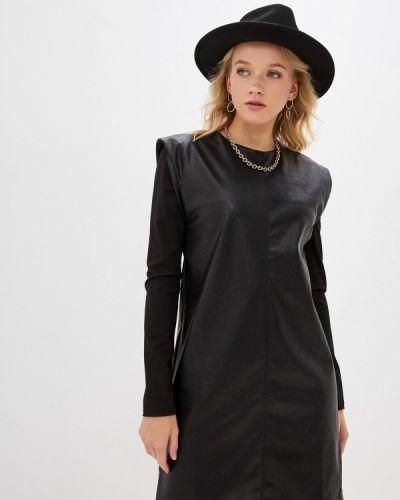 Кожаное платье - черное Savage