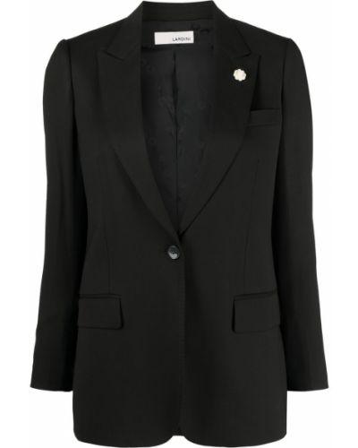 Однобортный черный классический пиджак на пуговицах Lardini