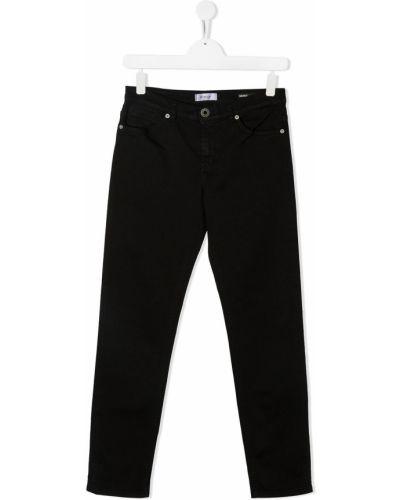 Классические черные джинсы классические стрейч с заплатками Dondup Kids