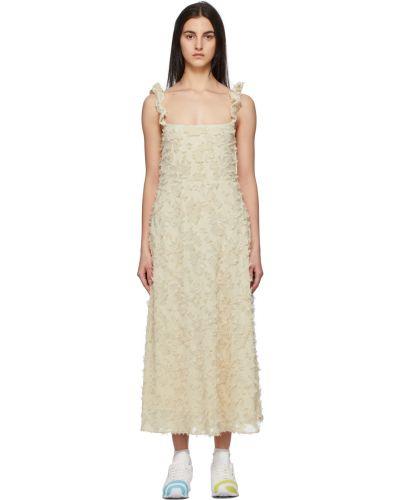 Sukienka bez rękawów - beżowa Collina Strada