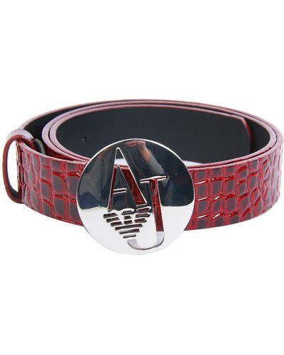 Ремень красный бордовый Armani Jeans